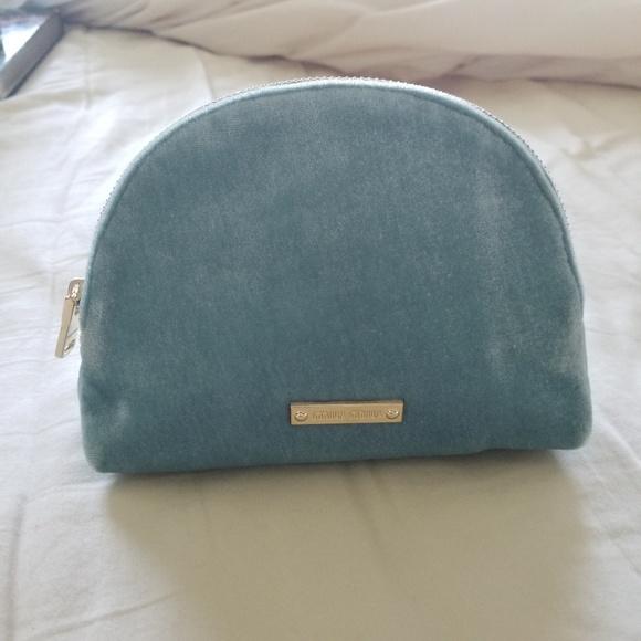 78a2df3aabbb Miu Miu blue velvet makeup bag pouch